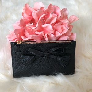 Kate Spade Small Black Hayes Wallet With Tassel